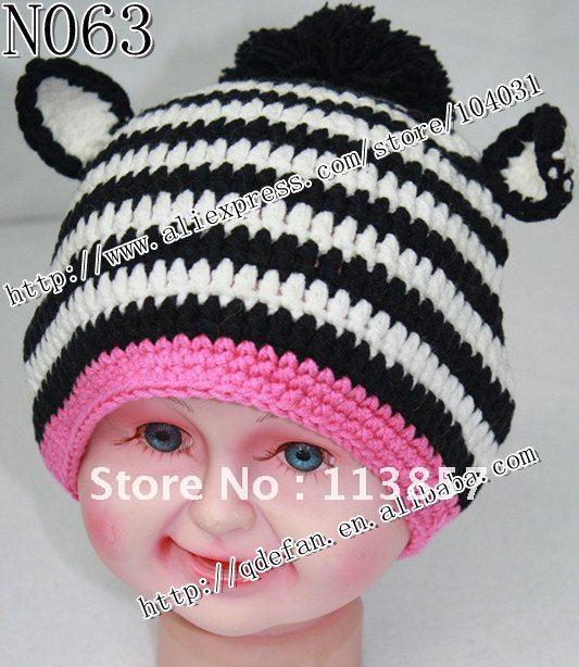 Free Crochet Pattern Zebra Hat : Gallery For > Crochet Zebra Hat