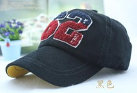 2013  digital embroidered corduroy baseball cap child cap bonnet for 4-8 years old children drop shipping