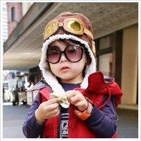 HT-1372 HOT SALE BABY GIRLS /BOYS/ CHILDREN/KID'S WINTER/ BOMBER CAPS/ HATS EARMUFF EAR PROTECTION CAP FREE SHIPPING