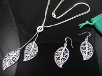 Fashion Jewelry 925 Silver Set Jewelry FS021 Necklace Earrings A Q