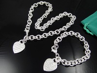 Fashion Jewelry 925 Silver Set Jewelry SF103 Necklace Bracelet E L