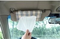 Free Shipping!!Car Sun Shield Board Clip Paper Tissue Box + Muti-functional CD bag Holder