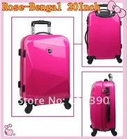women/grils/ladies ABS trolley luggage bag & kids ABS wheeled bag + Top quality free shipping 20 inch