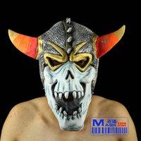 FREE SHIPPING!!!Wacky mask, Halloween prop. Terrorist ox demon king (color horn demons mask