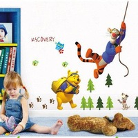 [Winnie's journey]Wall stickers cartoon removable children's room bedroom wall stickers