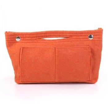 (Free shipping) Di show Korean pure felt storage bag / Sack -Orange