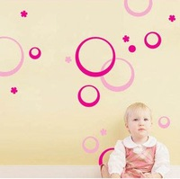Circle bubble fashion bedroom glass paste the living room stickers creative stickers backdrop tiled Post