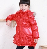 little girls kids snow winter coat hoody jacket warm overcoat Windproof infant baby clothing wear 2-7 year T26 free shpping