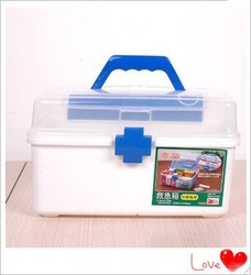 2012 NEW Plastic Practical Medicine Box Storage Organizer First Aid Chest(China (Mainland))