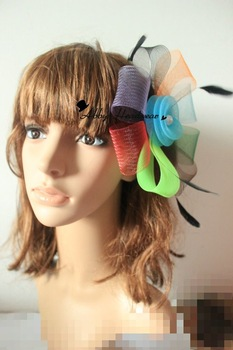 Wedding fascinator headpiece / fashion hair accessory   Multicolor 6pcs/lot