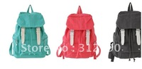 2012 New style fashion Canvas backpacks backpack student bags campus bag schoolbags with 4color,canvas bag,gift,