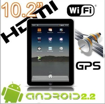 10 INCH Tablet PC X220 1Ghz Android 2.3 Build in GPS WIFI RJ45 port 512M DDRII