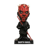 FUNKO WACKY WOBBLER Star Wars Darth Maul BOBBLE HEAD FIGURE