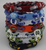 hot selling New arrival 100pcs Titanium Sport Tornado Bracelet twist bracelet Ionic hot selling 7'',8'',9''