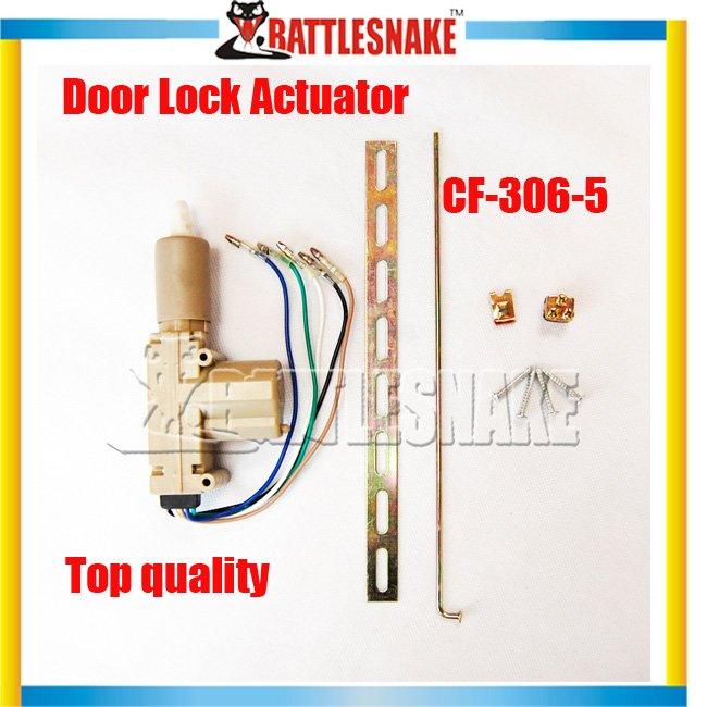 Free shipping High class Central Door Lock Actuator 10pcs/lot CF306-5 with colorful Single Gun Type Car Locking System(China (Mainland))