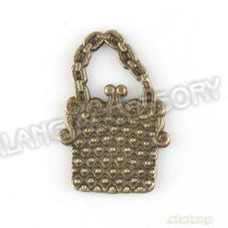 Free Shipping 180pcs/lot New Square Handbag Charms Antique Bronze Plated Alloy Pendant Jewelry Findings 19x13x1mm 142684(China (Mainland))