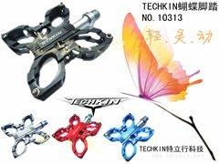 10313 TECHKIN butterfly foot / PEI Lin aluminium magnesium alloy /3 bearing foot pedal