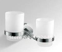 Double Tumbler Holder Tempered Glass Shelves Hook Shelves Bathroom Hooks Free Shipping KL-ZF832