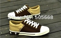 Men's breathable canvas shoes Fashion men's shoes spell color shoes