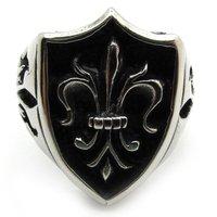 Vintage Style New 2014  Men Rings, Jewelry Retro 316L Stainless Steel Fleur De Lis Party Ring Punk