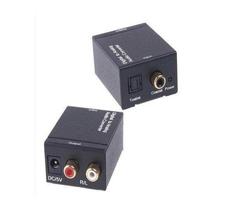 F03170 Digital SPDIF Optical Coaxial Toslink to Simulation Analog RCA R/L Audio Converter Adapter