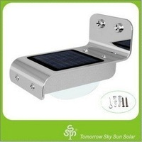 Solar Powered Lamp Outdoor 16 LED/LEDs Lights Wall Light Ray/Sound Sensor Light Outdoor/Garden free air mail