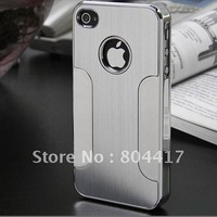 2012 Brand New Stylish Silver Luxury Steel Chrome Case Cover For Apple iPhone 5 5G, Free Shipping