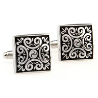 Men the shop decorative pattern male square cufflinks nail sleeve 170536
