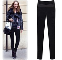 Free Shipping Autumn Womens Pants Europe Style Slim Velour Elasticity Leggings Long Trousers