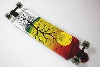 "Free Shipping 41"" Designer Beautiful Graphic Maple Longboard Cheap U Shape Skateboards"
