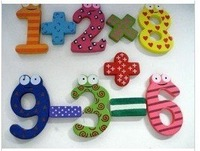 Wholesale Baby Children's Early Learning creative gifts educational toys /magnetic stickers / 15pcs/set wooden digital magnets