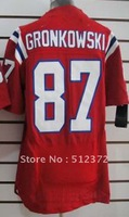 Free Shipping!!! 2012 new style #87 Rob Gronkowski 2012 new red jersey