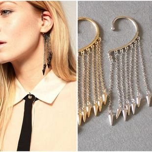 Free shipping, Trendy European punk spike drop earrings, Wholesale fashion jewelry, Factory direct