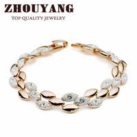 Браслет ZYH047 Olive Branch Blue Crystal 18K Platinum Plated Bracelet Jewelry Made with Genuine SWA Elements Austrian Crystals
