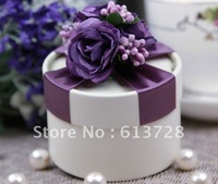Round paper wedding gift box,#CB007 ,assembled delivery, free shipping