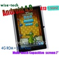 Newest  Android4.0 Allwinner boxchip A13 tablet 1.5Ghz 512MB/8GB 3G with Wifi 7inch Multi-touch capacitive screen+free shipping