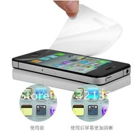 Wholesale 50Pcs/lot Full Body Screen Protector Guard Film For iPhone 4 4G 4S Front+Back+Cloth+NO Retail Package