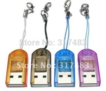 HOT Sell!  Micro sd card reader ,100 pcs /lot,free shipping
