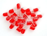 10mm round type Red Diffused LED(LBT10R1D-EHB-A),620~635nm,1.9~2.5V,200~450mcd,50deg