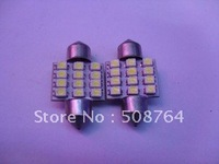 Free shipping ,10 x 31mm SMD Interior Dome Festoon 12 Led car light Bulb Super White Lamp 12V