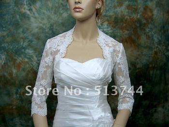 Gorgeous 3/4 sleeve   Bridal Embroidered Lace Bolero Wedding Bolero Jacket