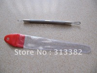 Wholesales Stainless steel Acen Doble Extractor Facial Skin care Tool  Acen Remove Needle Free shipping
