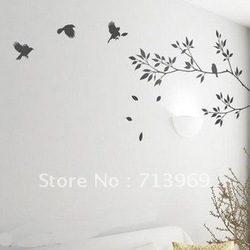 Living room sofa background wall stickers Tree of life Comfortable life(China (Mainland))