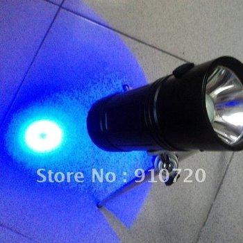 1Set 902 Fishing Light High Power Torch Dual light source fishing White + Blue light Flashlight +Tripod+Direct Charger+Gift Box