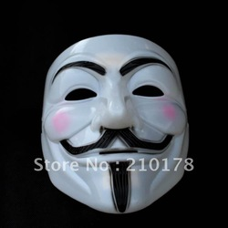 free shipping guy fawkes V vendetta team pink blood scar masquerade masks Halloween carnival Mask(adult size)(China (Mainland))