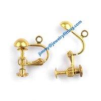 2014 new Screw lever back earrings clip earring fitting jewelry findings 300pcs