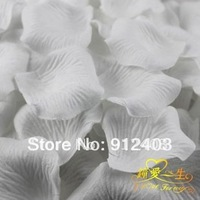 Wholesale 600 pieces white silk rose petals for wedding/party family Decoration FREE SHIPING