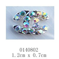 free shipping (10 pieces/pack) 3D Alloy AB color Rhinestone Nail Art iphone mobile Glitter Decoration