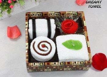 post shippingBY POST,100% cotton,secret garden towel set,business gift towel set,5pcs towel/set,mix colors.2PCS/LOT
