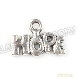 Promotion 600pcs/lot New Letter HOPE Charms Antique Silver Plated Alloy Pendant Jewelry Findings 9x13x1mm 142690(China (Mainland))